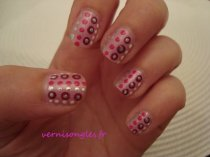 nail art doting rose