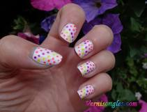 nail art dotting fluos