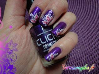 nail art dramatico water decals fleurs