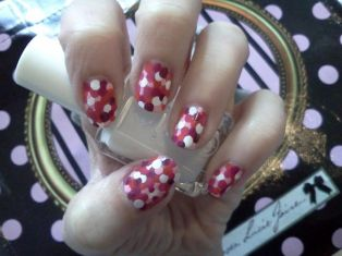 nail art imprimé rose
