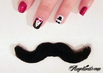 nail art nailstorming-movember