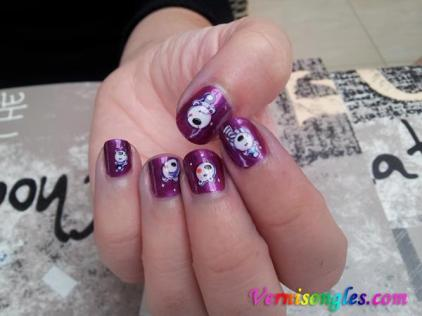 nail art ours blancs