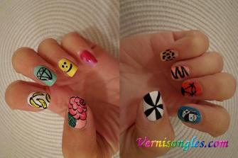 nail art patchwork