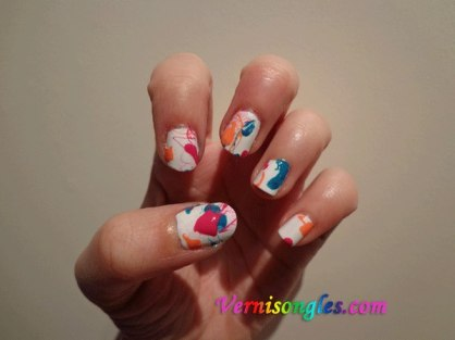 nail art splash