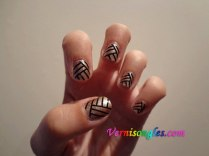 nail art striping noir