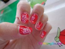 nail art water decals fleurs roses