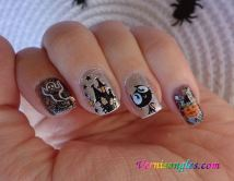 nail art water decals halloween