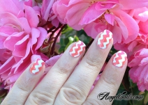 nail-art-chevrons-et-degrade-corail-rose-pailleté-angelinails