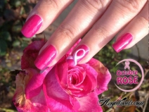 nail art octobre-rose